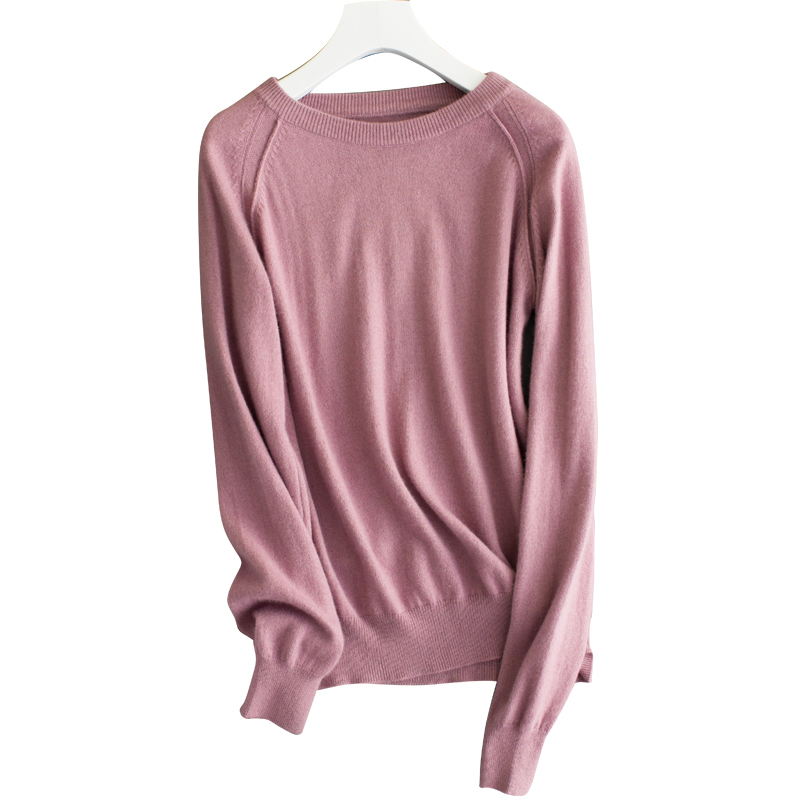 18 autumn winter new wild cashmere sweater women round neck Slim pullover short sweater knit bottoming