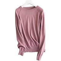 18 autumn winter new wild cashmere sweater women round neck Slim pullover short sweater knit bottoming pullover female