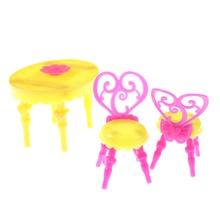 ¡Novedad de 2018! 1 Juego de sillas de mesa Vintage para niño o niña para bebé, conjuntos de muebles de comedor para muñecas, juguetes