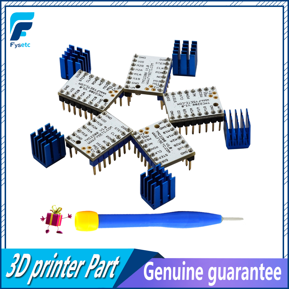 5pcs-tmc2208-stepping-motor-mute-driver-stepstick-power-tube-built-in-driver-current-14a-peak-current-2a-replace-tmc2100