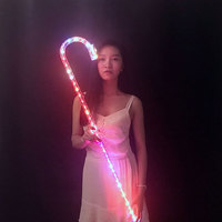 LED Dancing Crutches Colorful KTV Party Ballroom DJ Show Dance Accessories Light Props Shoes For Women