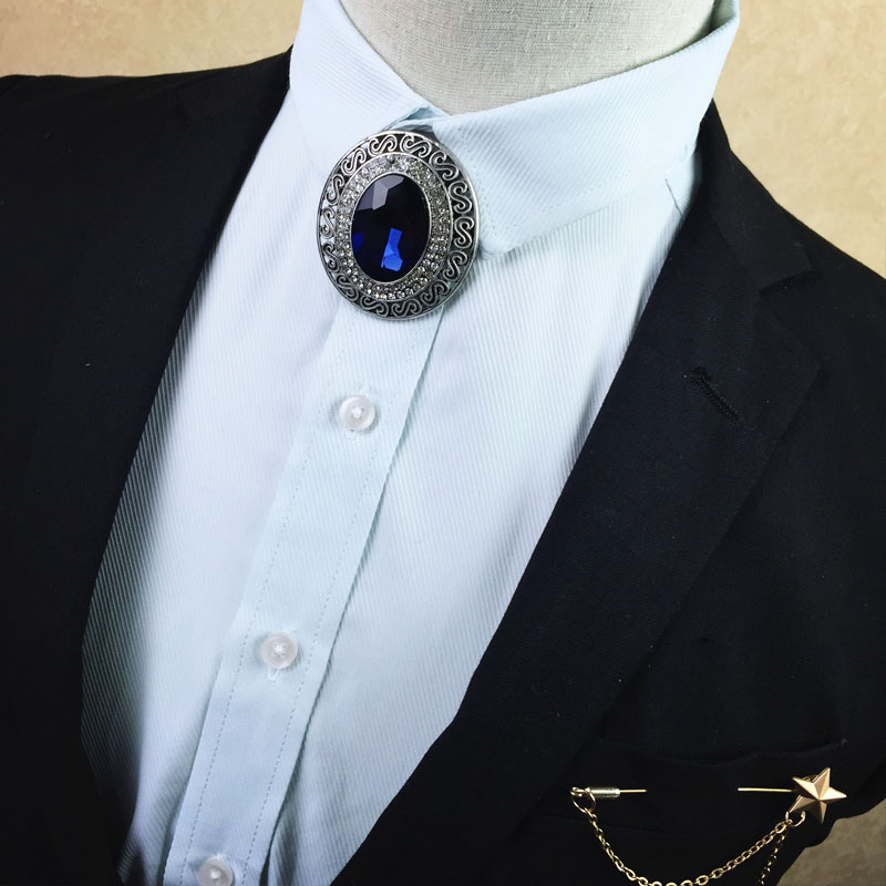 Elegant Men Wedding Business Neck bolo Tie Party Shirt Bow