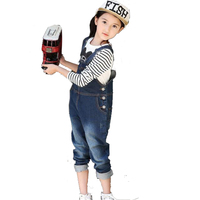 Kids baby Kinderen meisjes jongens peuter denim jeans lange overalls jumpsuit rompertjes kleding voor meisjes jongens 2 3 4 5 6 7 8 9 jaar 3