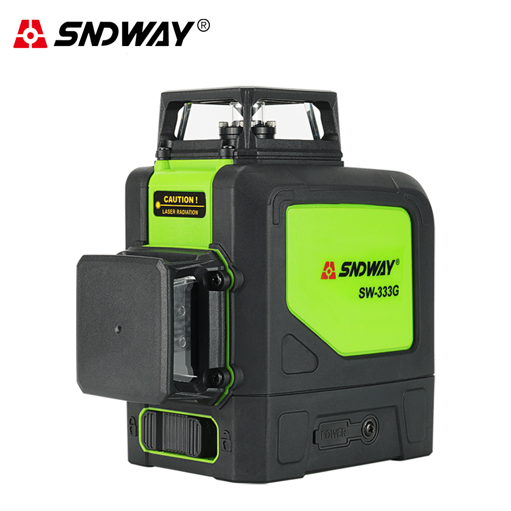 Sndway 3D 12 lines laser level green red laser beam line 360 Self Leveling cross line