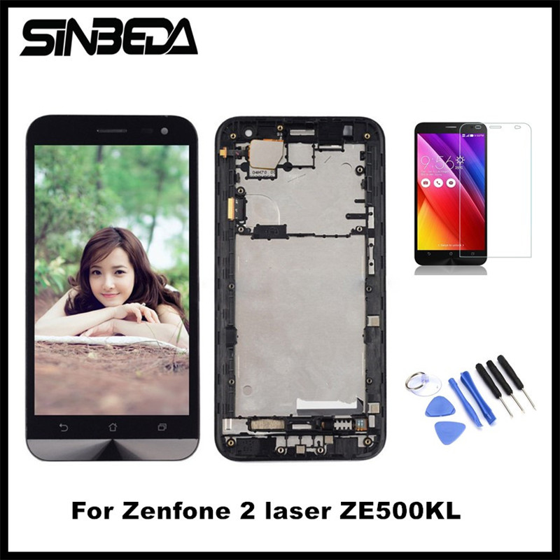 Sinbeda AAAA Tela 5 0 LCD Screen Display For ASUS Zenfone 2 Laser ZE500KL Touch Screen