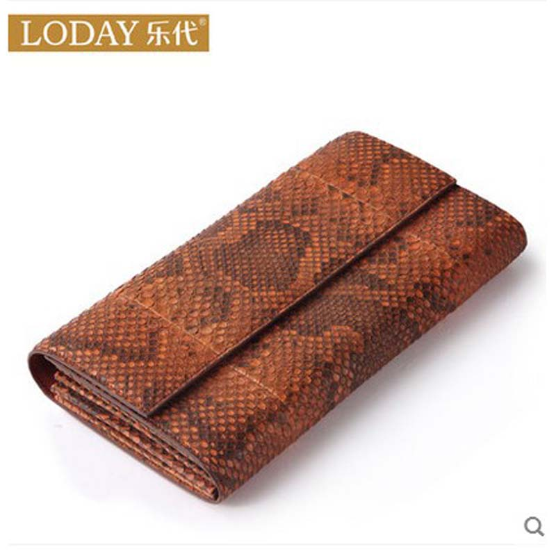 ledai wallet girl long style thin personality the Japanese and Korean students snake skin original women clutch bag женские брюки other japanese and korean brands