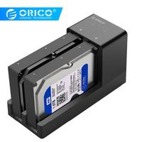 2 3 3 ORICO Dual Bay HDD Docking Station 2.5 3.5 USB 3.0 to Sata Hard Drive Case Support Offline Clone Hard Disk Adapter For HDD SSD (1)