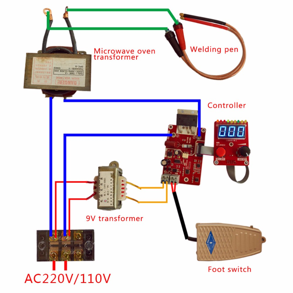 100a double pulse spot welding machine encoder time digit module100a double pulse spot welding machine encoder time digit module control panel plate adjustable current controller in spot welders from tools on