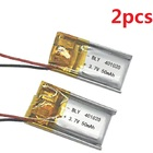 2Pcs 401020 Battery 041020 Rechargeable Batteries Li-po 3.7V for 1S RC Toys Rc Cars Bluetooth Speaker Headset Digital Products