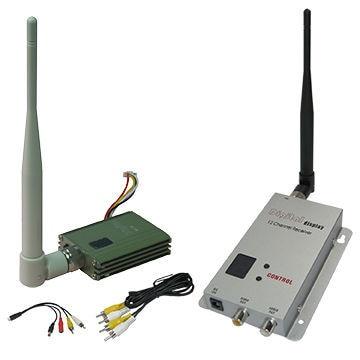 где купить 1.2Ghz FPV Wireless Video Transmitter 8CHs CCTV Video Transmitter and Receiver 400~800m Transmitter Distance Video Sender дешево