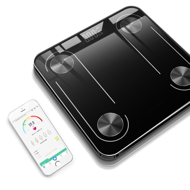 New Bluetooth Smart Body Fat Scale Electronic Weighing Scale Measuring Fat Health Human Scale LED Digital Bathroom Balance(China)