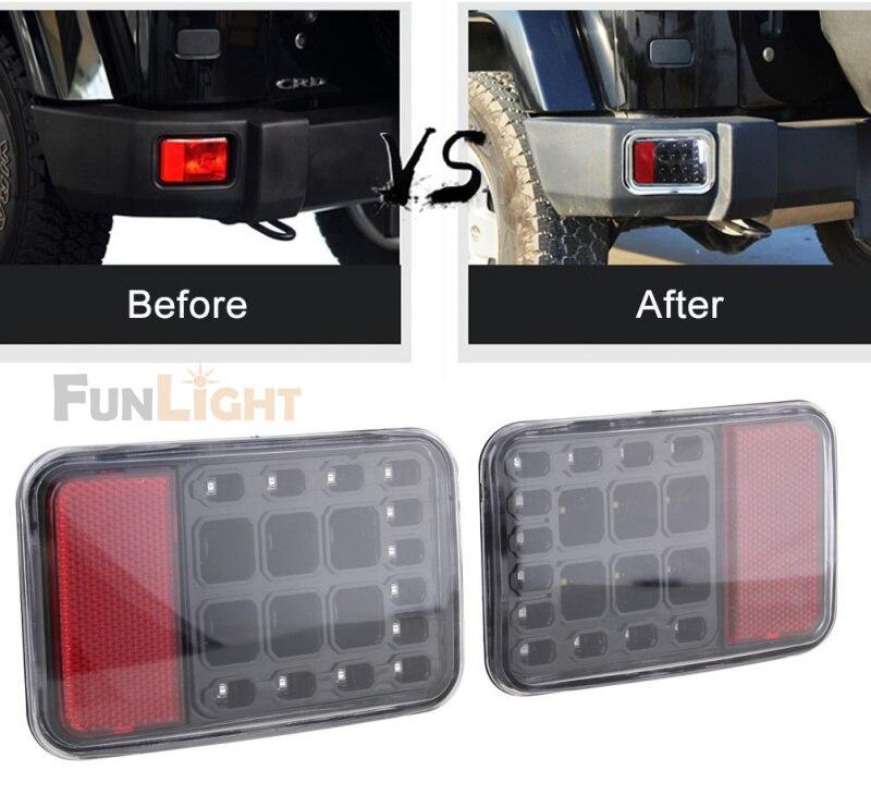 Free Shipping new Rear Bumper Fog Parking Reverse Brake Lamp For Jeep Wrangler JK 2007 2016