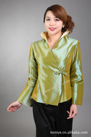 Chinese Traditional Garments Women's Silk Satin Jacket Lady Coat Size: M to 3XL
