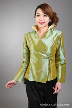 Chinese Traditional  Garments Womens Silk Satin Jacket Lady Coat Size: M to 3XL
