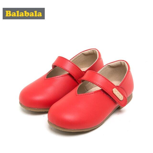 balabala Children Shoes Girls cow leather Shoes Fashion Comfortable Kids Casual dance Sneakers Toddler Girls Princess Shoes