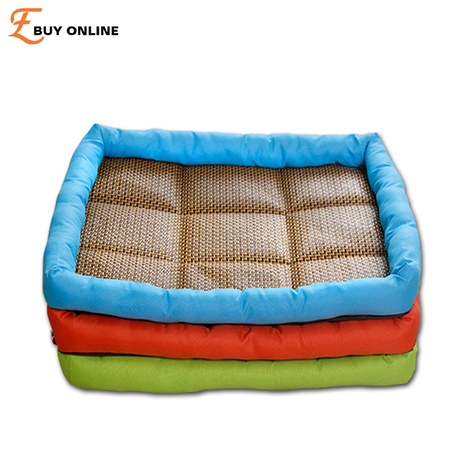 summer new cool dog bed pet cat dogs straw tatami oxford bed u0026 straw mat specially