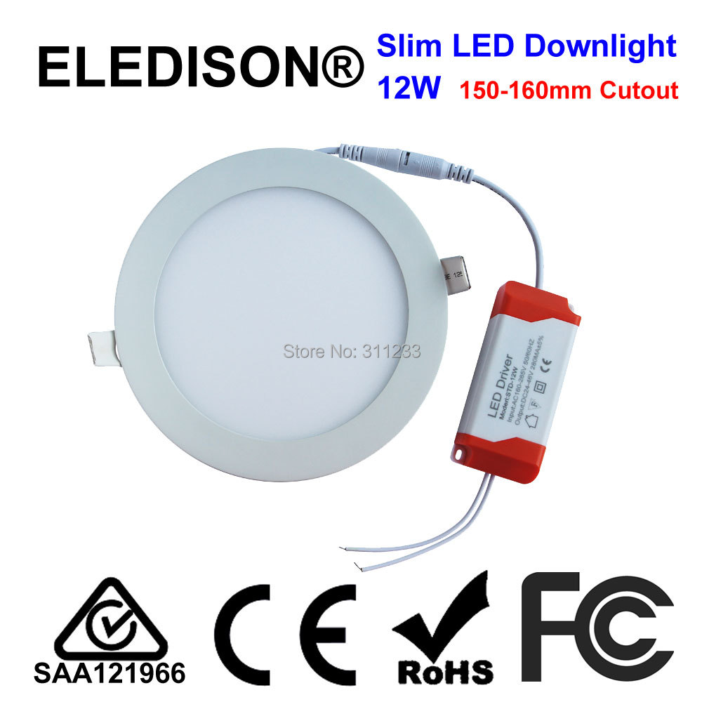 5 inch Recessed Downlight Panel 12W Cutout 150mm Completed Set Hotel ...