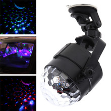 Led Garland Light Projector Auto Car Disco DJ Stage Lighting LED RGB Crystal Ball Lamp Bulb Light Party Luces 35DC5