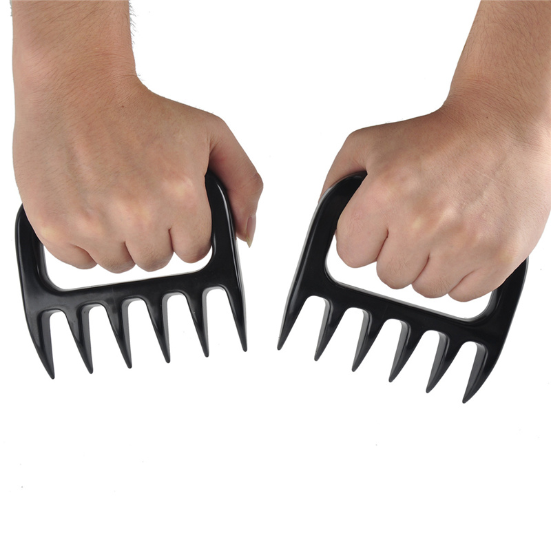 2pcs/lot Sharp Bear Claws Paws Meat Handler Kitchen Fork Tools Kitchenware BBQ Pork Forks Barbecue Accessories Plastic