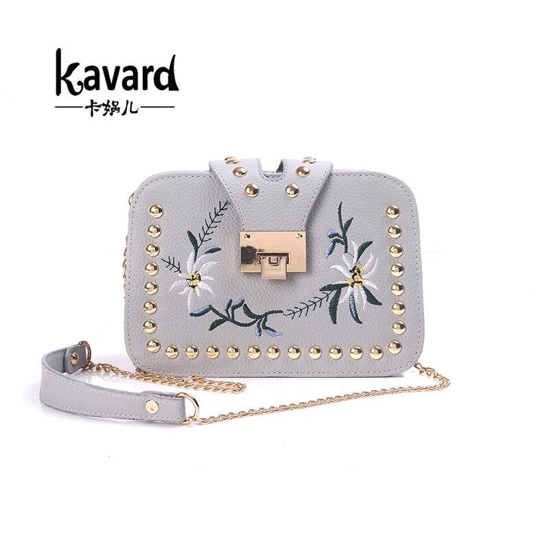 Kavard Remache mini bolso Del Mensajero del bolso de Cuero de las mujeres famosa