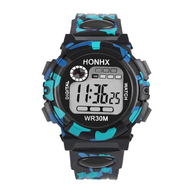 HONHX Splendid Luxury Brand Mens Sports Watches Kids Child Boy Girl Multifunctio