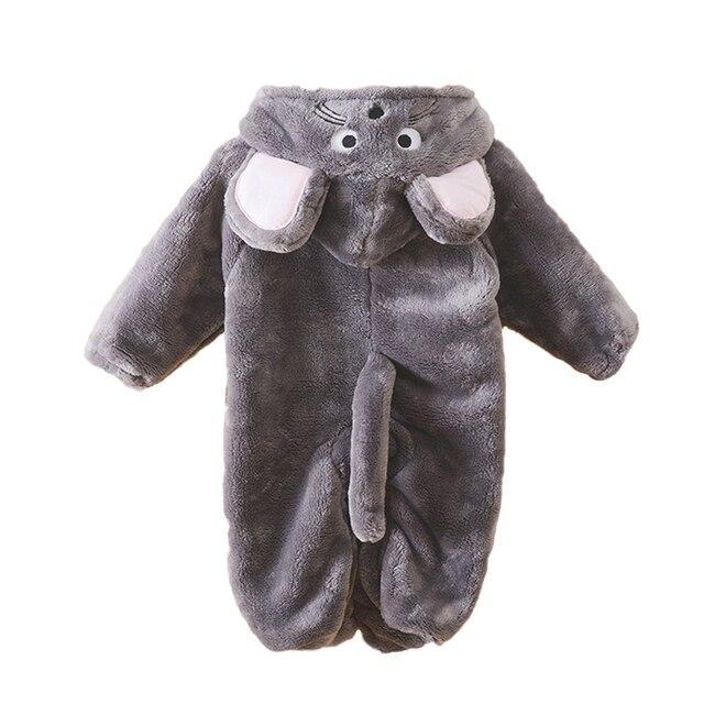 Осень Зима Детская Одежда Ватки Коралла Комбинезон Животных Одежда Ползунки Детская Одежда Все Для Детской Одежды И Аксессуаров