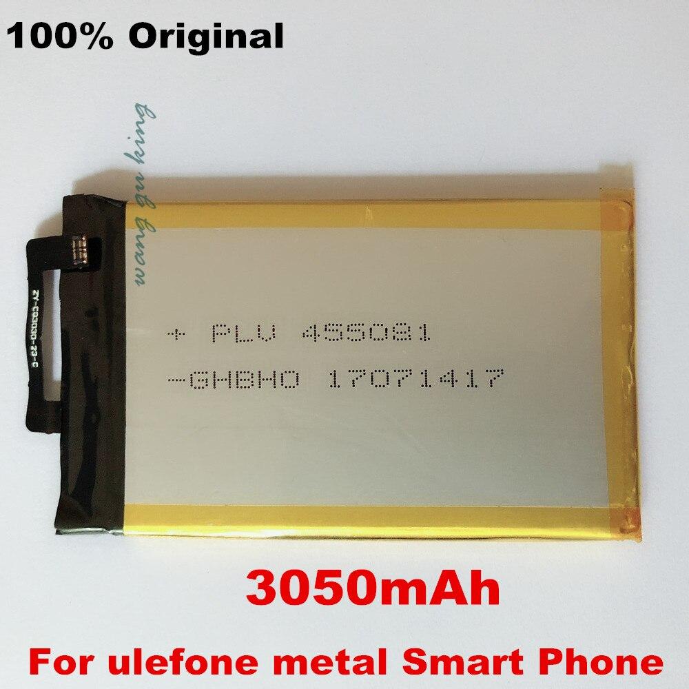 100% Original Ulefone Metall Batterie 3050 mah Für 5,0 zoll ulefone metall Smart Telefon + Tracking Nummer