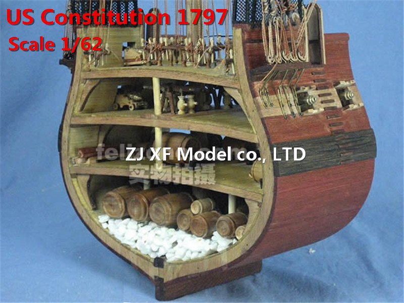 1797 USN Classic wooden model scale 1 62 America Constitution warship wooden Model kits