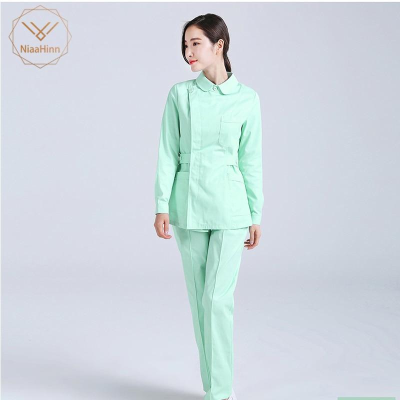 New Fashion Medical Scrub Sets Hospital Surgical Clothing Sets Doctors Nurse Uniform Dental Clinic Workwwear Clothes Lab Gown