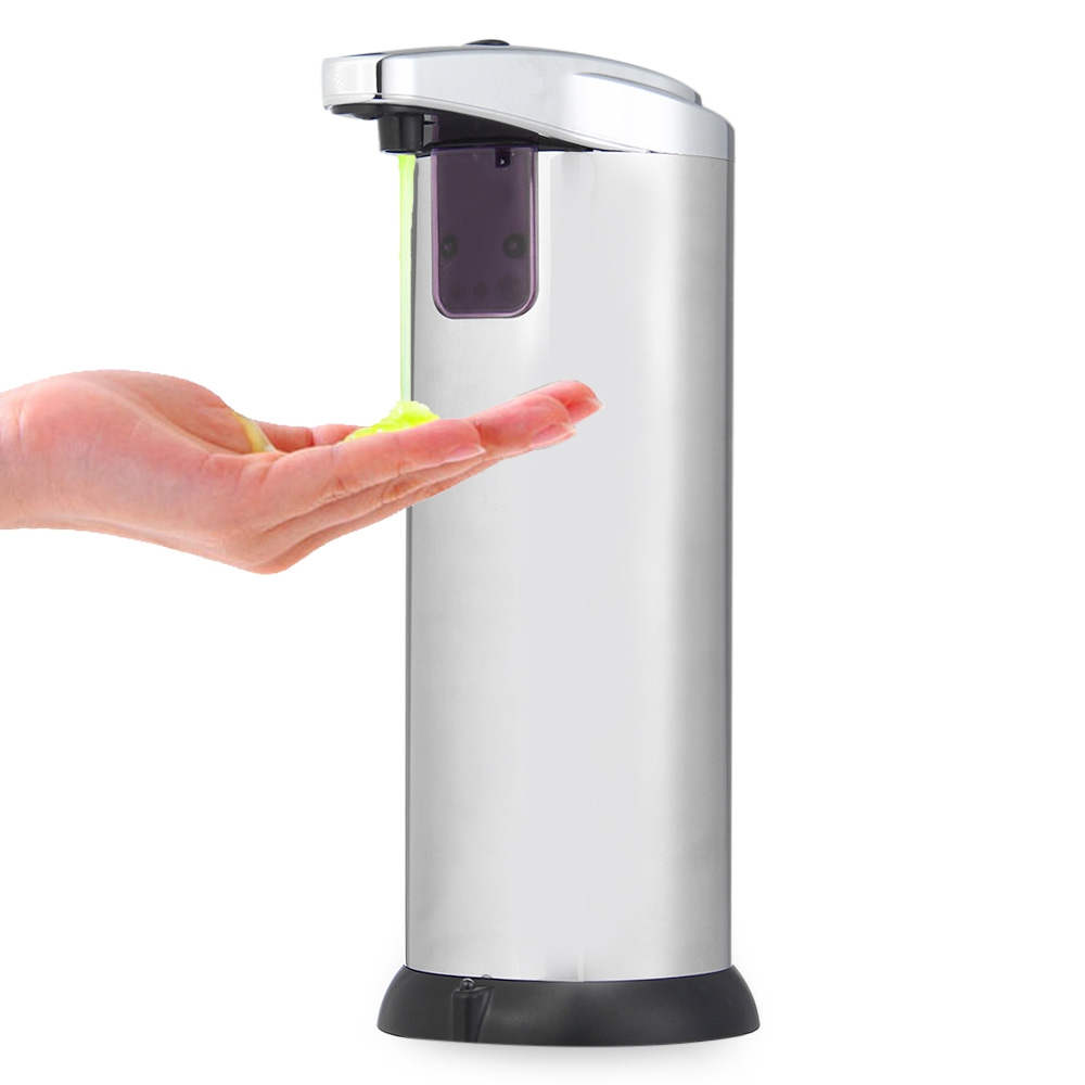 A++ Quality Hot 280ML Stainless Steel IR Sensor Touchless Automatic Liquid Soap Dispenser For Kitchen Bathroom Home