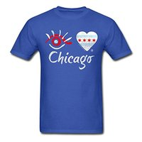 Eye Love Chicago Men S T Shirt Cool Casual Sleeves Cotton T Shirt Fashion Middle Aged