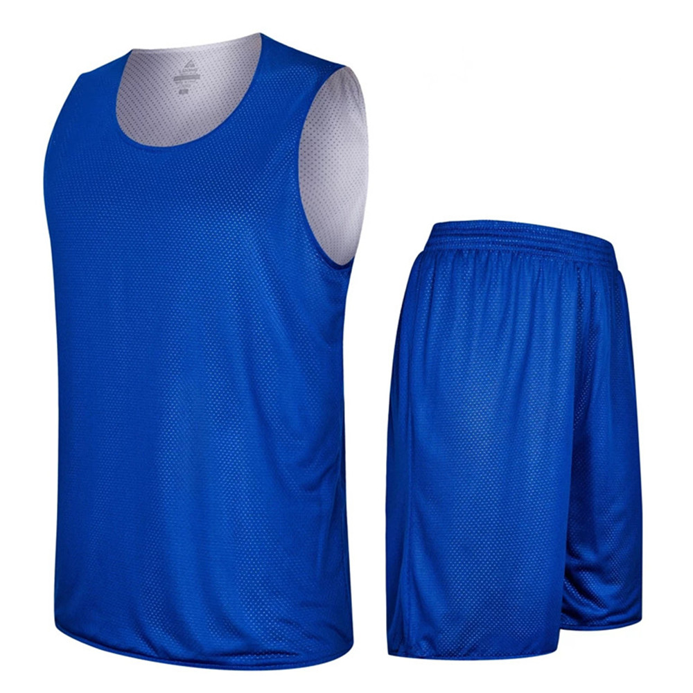 2018 Adult Men Reversible Basketball Jersey Sets Uniforms kits Sports clothes Double-sided basketball jerseys suits Customized