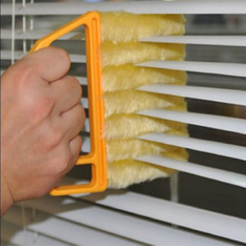 7 Manos Ciego Limpiador de Ventana De Aire Acondicionado de Celosía Cepillo Plum