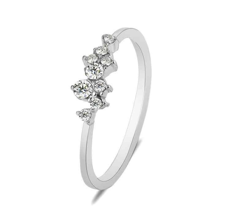คุณภาพสูงแฟชั่นฤดูร้อนผู้หญิงแหวนของขวัญเครื่องประดับนิ้วมือ Sliver/Gold สี Rhinestone คริสตัลแหวนโอปอล 6/ 7/8/9/10 ขนาด