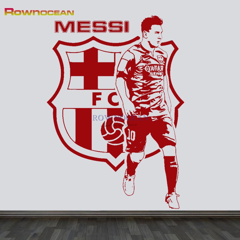 Messi Football Star Barcelona Quote Wall Stickers DIY ...