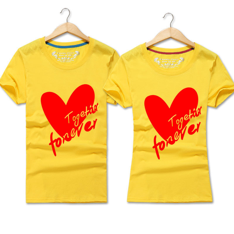 1683592451 2017 New Fashion Summer Love Couple T shirt Together Forever Valentine's  Day Matching Couple Shirt Tops-in T-Shirts from Women's Clothing on  Aliexpress.com ...