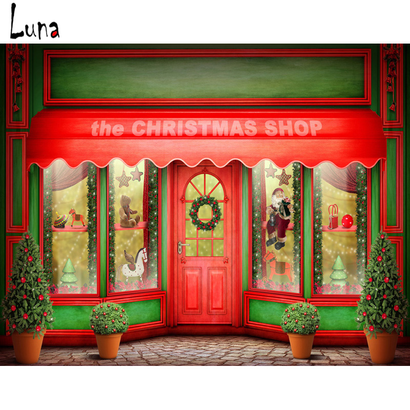 MEHOFOTO Christmas Vinyl Photography Background For Newborn Red Door New Fabric Flannel Backdrop For photo studio Props 2628 in Background from Consumer Electronics