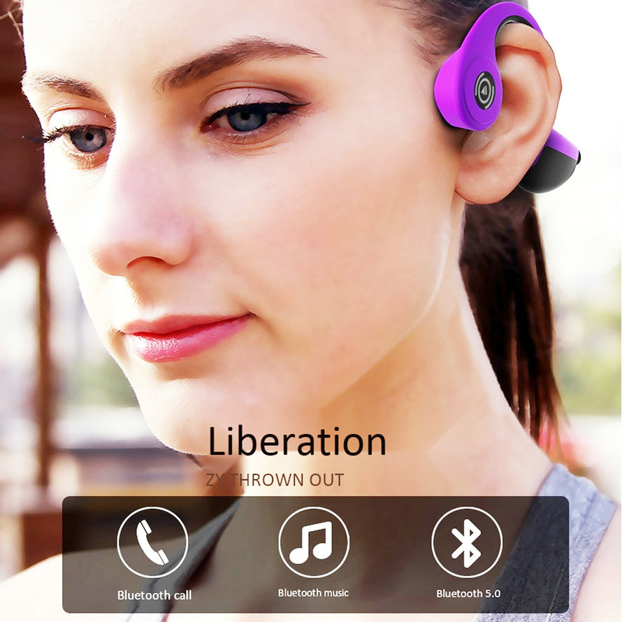 Sports Bluetooth Bone Conduction Earphones Stereo Headset NFC Wireless Headset Outdoor Hands free with Mic For Iphone X Running (4)
