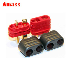 1 Pair Amass T Plug Connector With Sheath Housing Male & Female  For Rc Lipo battery