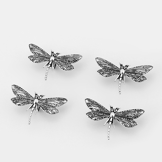 10pcs 10x6.5mm dragonfly slider spacer  Findings For Licorice Leather