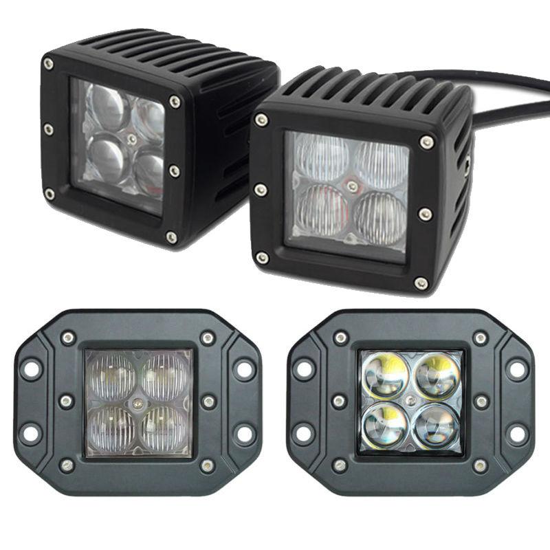 Nejnovější LED pracovní světlo Spot Flood 20W 40W 5D Driving Light White Offroad Backup Reverse Lamp Mlha Pomocné terénní žárovky Mini Car