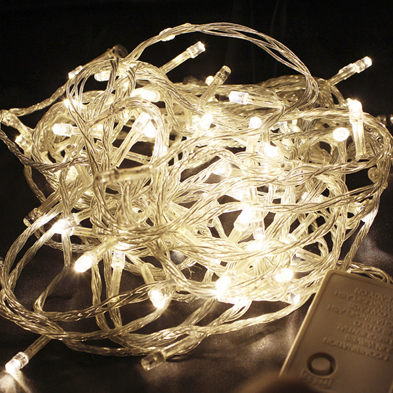 xtf 2015 Warm White Led String Lights 10M 100 LEDs Holiday Festival Party Decoration Lights T-WW10