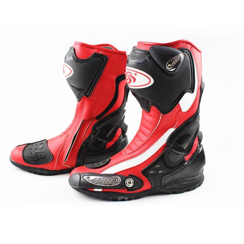 Езда племя скорость Off Road Racing мотоботы из микрофибры Мотоцикл Мотокросс Мотоцикл мотоботы обувь