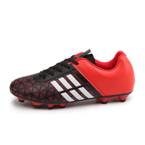Image 2 - Men Football Soccer Boots Athletic Soccer Shoes 2018 New Leather Big Size High Top Soccer Cleats Training Football Sneaker Man