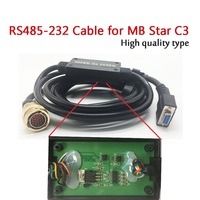 RS232 TO RS485 For MB Star C3 Star Diagnostic Tool Connection Cable (with PCB) Star Diagnostic C3 Scanner RS232 Cable