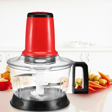 2.6L Meat Grinder Chopper Electric Automatic Mincing Machine Stainless Steel Vegetable Fruit Meat Cutter Blender Food Processor