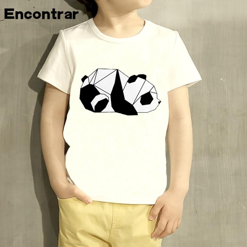 Lights & Lighting Kids Geometric Panda Cartoon Design T Shirt Boys/girls Short Sleeve Tops Children Cute T-shirt,hkp2203