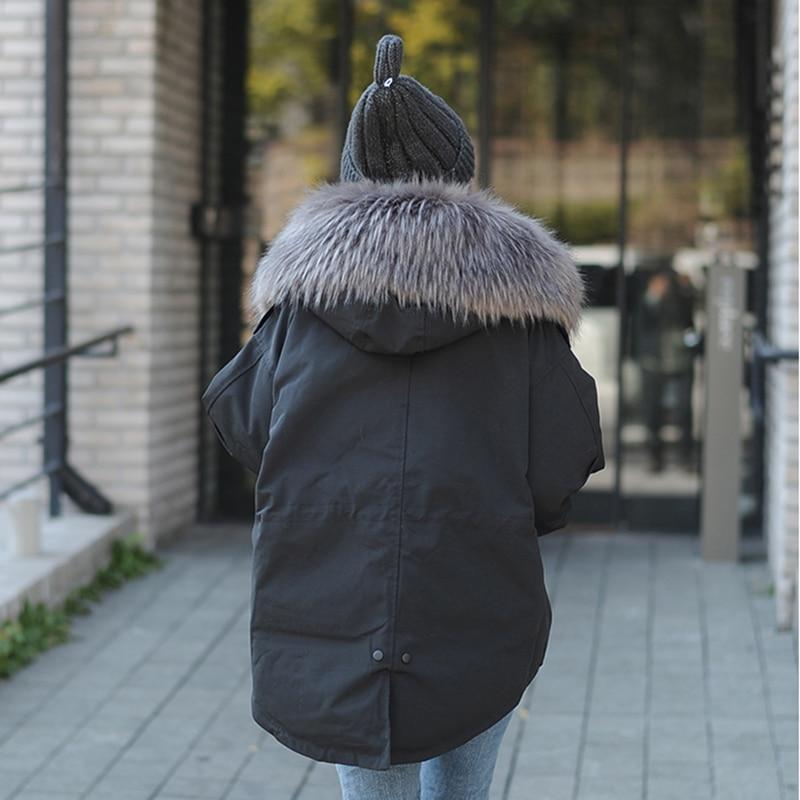 Capuchon À Parkas Coton Ouatée Le Court Vers Manteau Black 2017 De Femmes Vestes Ok96u Bas Femelle Lâche Surdimensionnée Fourrure Survêtement D'hiver Nouvelle Noir vwxqzTfR