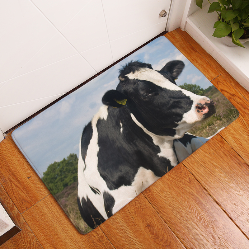 2017New 5 Style HD Cattle and Sheep Print Carpets Anti-Slip Floor Mat Outdoor Rugs Front Door Mats