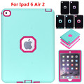 Fashion Shockproof Heavy Duty 3 in 1 Case for ipad Air 2 TPU Hard Case Funda Coque for ipad 6 PC Cover for Apple iPad6 ipad Air2
